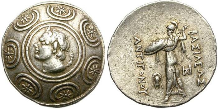 Ancient Coins - ANTIGONOS GONATAS. SILVER TETRADRACHM. GOOD SILVER CONDITION. ATTRACTIVE STRIKE