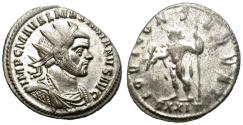 Ancient Coins - MAXIMIANUS. AE ANTONINIANUS. TICINUM. WITH MANY OF ITS ORIGINAL SILVERING STILL REMAINING.