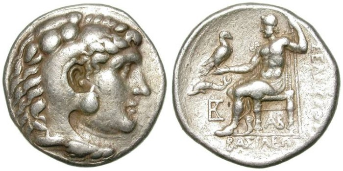Ancient Coins - SELEUKOS I. TETRADRACHM. ATTRACTIVE HERAKLES PORTRAITURE