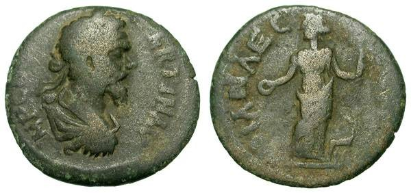 Ancient Coins - SEPTIMIUS SEVERUS. PROVINCIAL AE. KREMNA. RARE AND INTERESTING