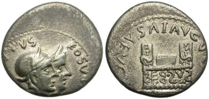 Ancient Coins - BARBARIAN IMITATION OF AN AUGUSTUS SILVER DENARIUS. AMAZING ODDITY !