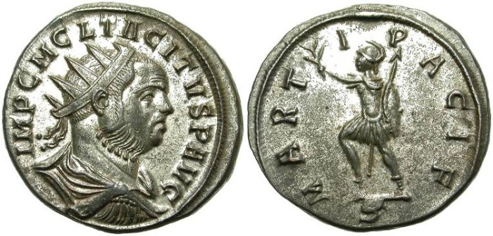 Ancient Coins - TACITUS. BILLON ANTONINIANI. EXCELLENT CONDITION. HANDSOME PORTRAIT.