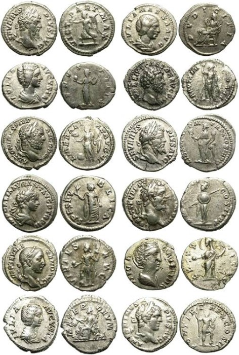 Ancient Coins - LOT OF 12 NON EXPENSIVE SILVER DENARIUS. VERY OPPORTUNISTIC PRICE !