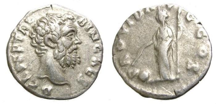Ancient Coins - CLODIUS  ALBINUS  DENARIUS.   A.D. 195-197  VERY  SCARCE.