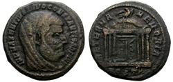 Ancient Coins - CONSTANTIUS I. (305-306) AD. FOLLIS. OSTIA. STRUCK UNDER MAXENTIUS