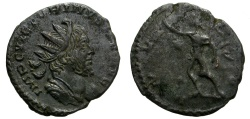 Ancient Coins - VICTORINUS. AE ANTONINIANNUS. FANTASTIC PORTRAIT. NICE DARK GREEN PATINA