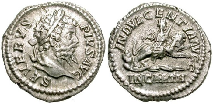 Ancient Coins - SEPTIMIUS SEVERUS.  SILVER DENARIUS.  NICE  PORTRAIT. ECONOMIC.