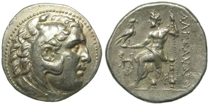 Ancient Coins - ALEXANDER THE GREAT. TETRADRACHM. MILET. NICE AND UNFRECUENT ISSUE