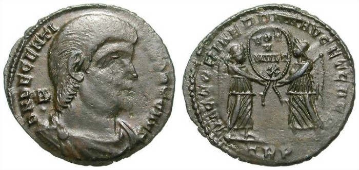 Ancient Coins - DECENTIUS. MAIORINA. LARGE HEAD. ATTRACTIVE