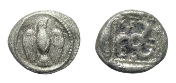 Ancient Coins - LYCIA. TETROBOL. VERY RARE ISSUE. KNOWN DINASTY !
