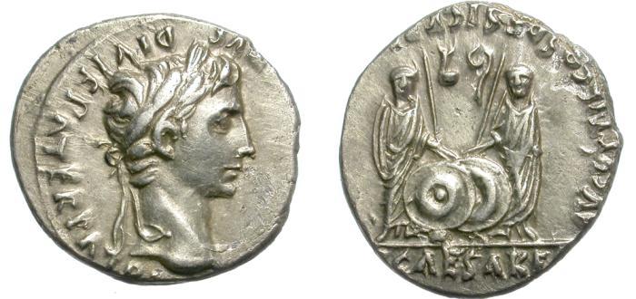 Ancient Coins - AUGUSTUS 27 BC-AD14. SILVER DENARIUS. NICE PORTRAIT. OPPORTUNITY