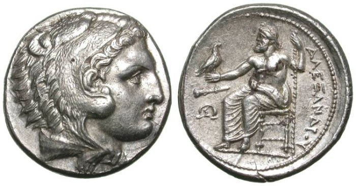 Ancient Coins - ALEXANDER THE GREAT. TETRADRACHM. NICE EF. WONDERFUL LIFETIME ISSUE !