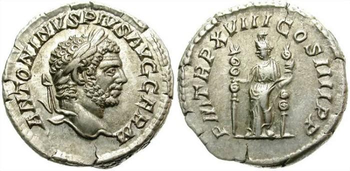 Ancient Coins - CARACALLA. 211-217 A.D. SILVER DENARIUS. ROMA. NICE PORTRAIT.  GOOD  CONDITION.