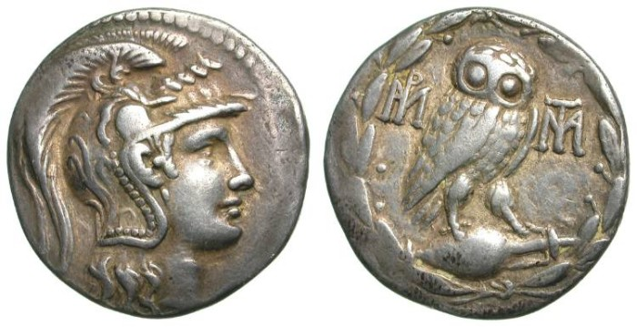 Ancient Coins - ATTICA-ATHENS. SULLA ISSUE. NEW STYLE TETRADRACHM. SCARCE AND VERY ATTRACTIVE PIECE !