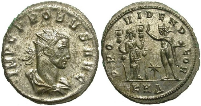 Ancient Coins - PROBUS. AE ANTONINIANUS. SERDICA MINT. MOST SILVERING REMAINING