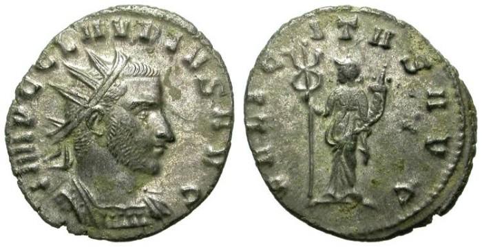 Ancient Coins - CLAUDIUS II GOTHIC. BILLON ANTONINIAN. EF. FULL SILVERING. LARGE HEAD PORTRAIT