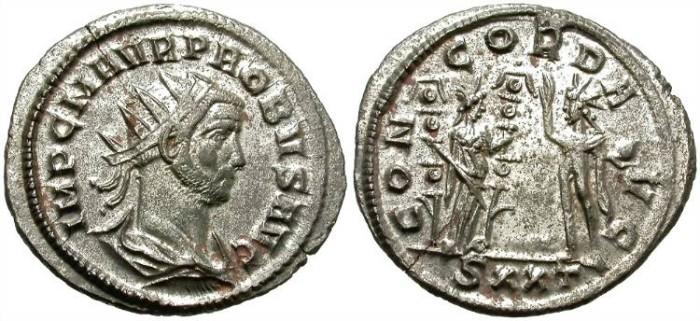 Ancient Coins - PROBUS. AE ANTONINIANUS. TICINUM MINT. ATTRACTIVE PORTRAIT