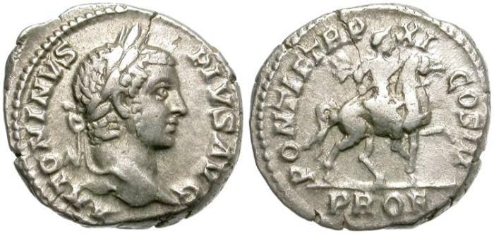Ancient Coins - CARACALLA. AR DENARIUS. ROME MINT.  GOOD PRICE.