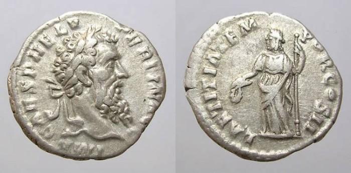 Ancient Coins - PERTINAX DENARIUS. BEAUTIFUL PORTRAIT.