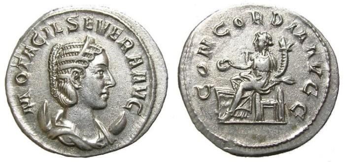 Ancient Coins - OTACILIA  SEVERA,  W.  OF PHILIP  I.