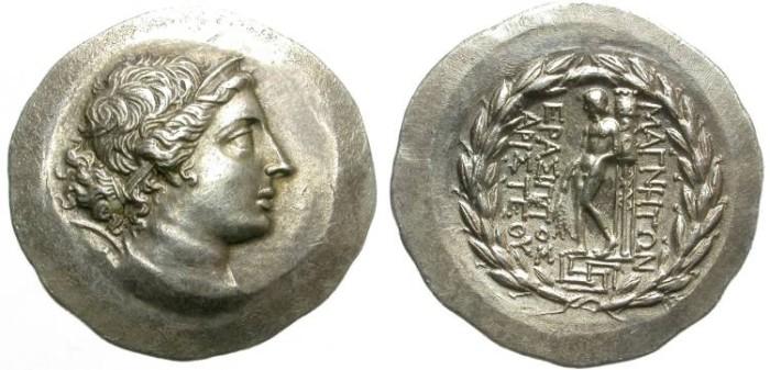 "Ancient Coins - MAGNESIA, IONIA. SILVER TETRADRACHM. ""STEPHANOPHOROI ISSUE"". SO NICE COIN !"