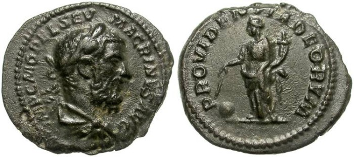 Ancient Coins - MACRINUS. FOUREE DENAR. BEAUTIFUL ANCIENT COUNTERFEIT