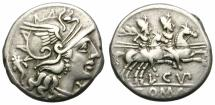 Ancient Coins - ROMAN REPUBLIC. CUPIENNIA. 147 BC. ROME. ATTRACTIVE AND NICELY TONED.