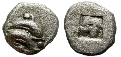 Ancient Coins -  THRACE. THASOS. OBOL. (c.500-480 BC) INTERESTING MINIATURE.