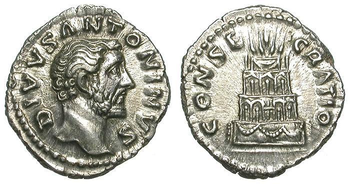 Ancient Coins - ANTONINUS PIUS. DENAR. UNCIRCULATED. CONSECRATIO. AMAZING !