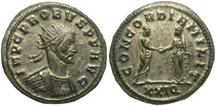 Ancient Coins - PROBUS.  ANTONINIANUS. NICE BUST. MOST SILVERING REMAINING.