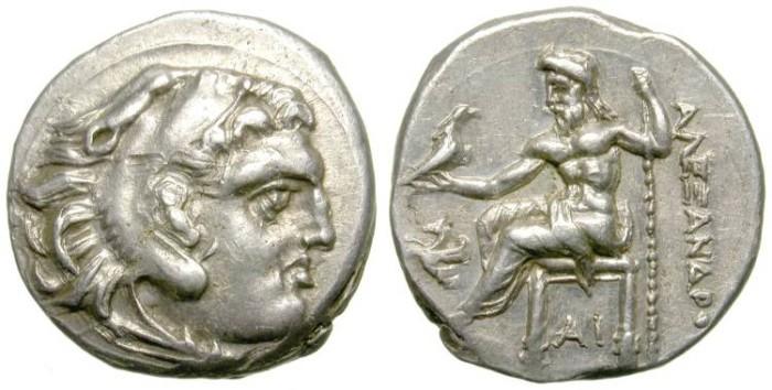 Ancient Coins - ALEXANDER THE GREAT DRACHM. LAMPSAKOS MINT. SO SHARP !
