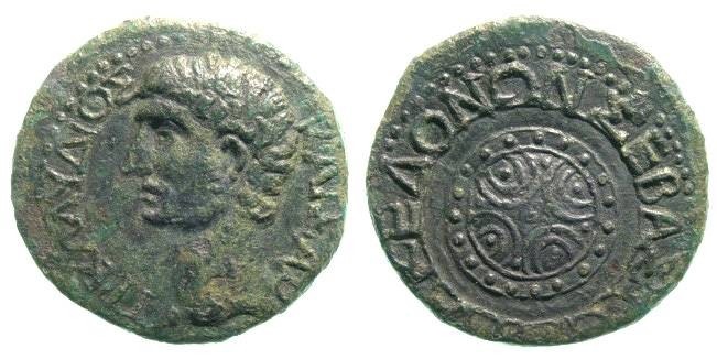 Ancient Coins - CLAUDIUS: PROVINCIAL ISSUE. MACEDON. NICE PATINA W/ GOOD PORTRAIT
