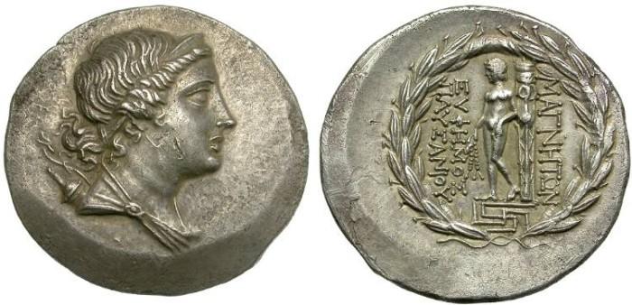 Ancient Coins - MAGNESIA,  IONIA.  TETRADRACHM.  FANTASTIC  COIN.