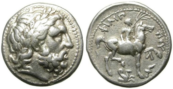 Ancient Coins - PHILIP II OF MACEDON, FATHER OF ALEXANDER THE GREAT. POSTHUMOUS TETRADRACHM