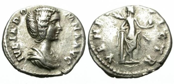 Ancient Coins - JULIA DOMNA. SILVER DENARIUS. RARE REVERSE WITH VENUS. /2