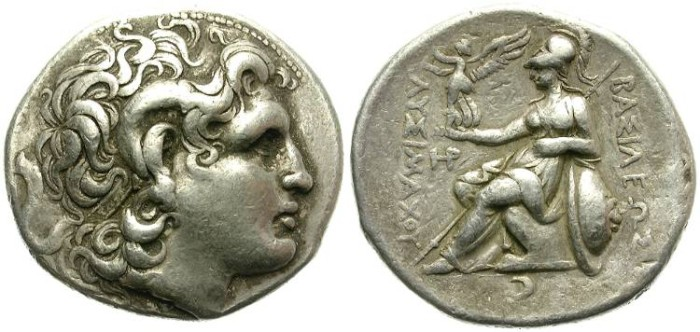 Ancient Coins - LYSIMACHOS. KINGDOM OF TRACIA AFTER ALEXANDER. SILVER TETRADRACHM. NICE PORTRAIT