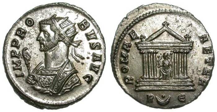 Ancient Coins - PROBUS. ANTONINIAN. NICE EF. FULL SILVERING. A NICE COIN IN A GREAT CONDITION !