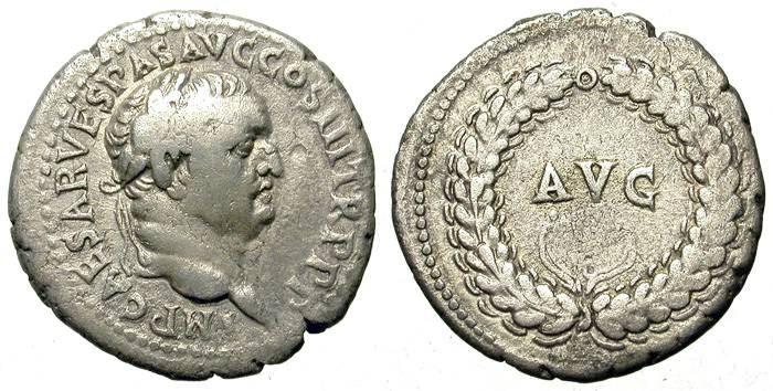 "Ancient Coins - VESPASIAN. DENAR. EPHESUS MINT. ""AVG"". SO INTERESTING !"