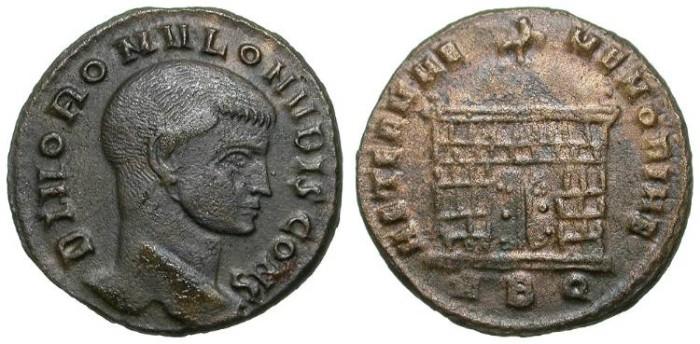 Ancient Coins - ROMULUS. AE FOLLIS. ROME MINT. RARE !