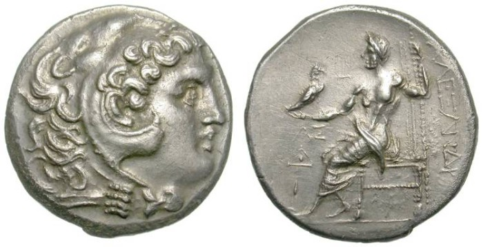 Ancient Coins - ALEXANDER THE GREAT. TETRADRACHM. ODESSOS MINT. SUCH A NICE ISSUE !