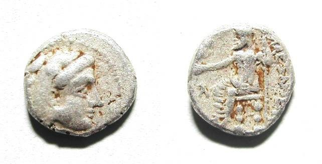 Ancient Coins - ALEXANDER THE GREAT. OBOL. BABYLON. A VF. RARE & INTERESTING !