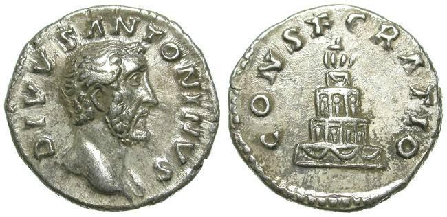 Ancient Coins - ANTONINUS PIUS. POSTHUMOUS DENAR. CONSECRATIO.
