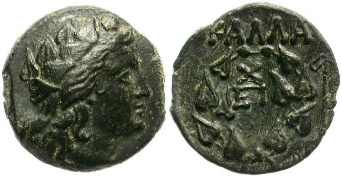 Ancient Coins - KALLATIS.  AE BRONZE.  BEAUTIFUL BUST OF DIONYSOS.
