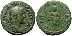 Ancient Coins - MAXIMINUS. SCARCE AE AS. ATTRACTIVE PIECE.