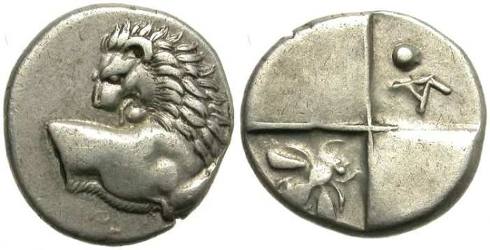 Ancient Coins - CHERRONESOS, THRACE.  TETROBOL.  ATTRACTIVE PIECE.