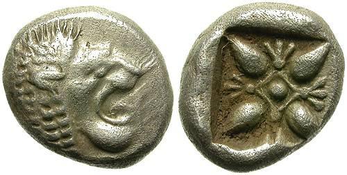 Ancient Coins - MILET, IONIA. SILVER OBOL. ATRACTIVE STRIKE. GOOD PRICE ! /2