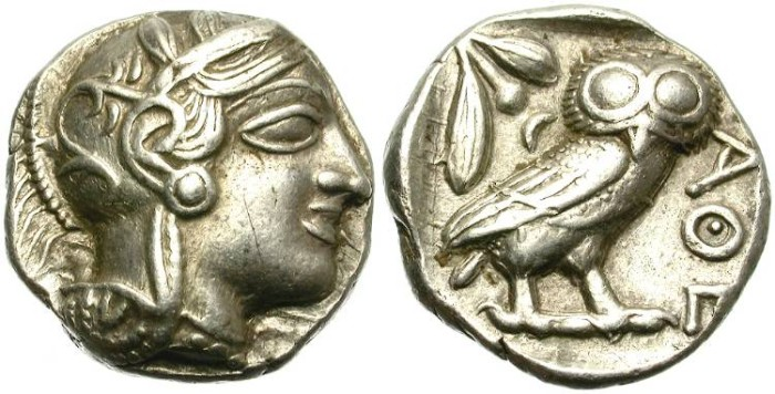 Ancient Coins - ATTICA. ATHENS. SILVER TETRADRACHM. CLASSICAL PERIOD. NICE AND GOOD CONDITION /3