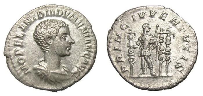 Ancient Coins - DIADUMENIAN  DENARIUS.