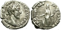 Ancient Coins - COMMODUS. SILVER DENARIUS. ATTRACTIVE PORTRAIT. UNUSUAL HEAVY WEIGHT
