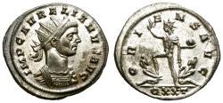 Ancient Coins - AURELIAN. ANTONINIAN. MOST ORIGINAL SILVERING STILL REMAINING. NICE.
